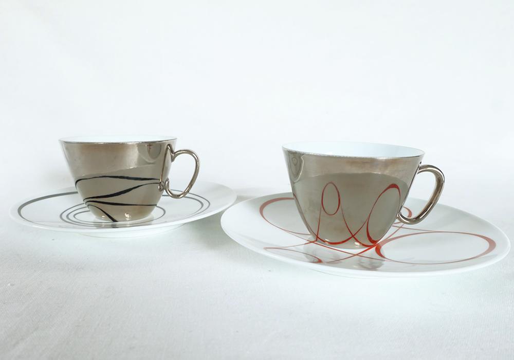 陶器 ティーカップ&ソーサー