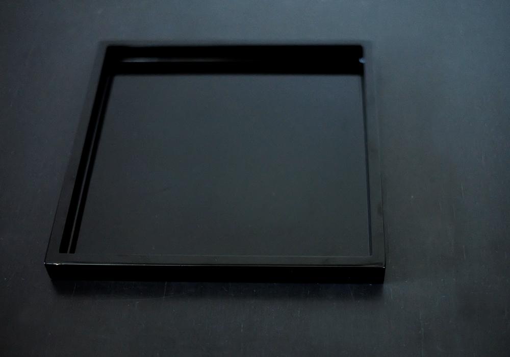 漆器 黒塗 正角トレー(黒)